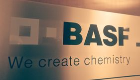 Symbol of the German chemical company BASF stock illustration