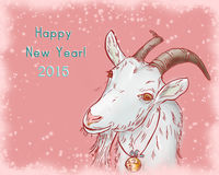 Symbol a goat by 2015 Royalty Free Stock Image