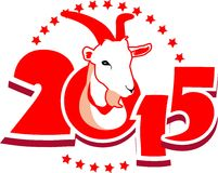 Symbol the goat. Emblem in 2015 on the eastern calendar goat Royalty Free Stock Photography