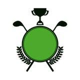 Symbol golf emblem icon. Image,  illustration Royalty Free Stock Photo