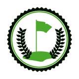 Symbol golf emblem icon. Image,  illustration Royalty Free Stock Image