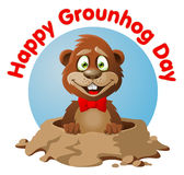 Symbol of Groundhog day Stock Photography