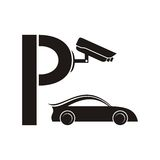 Symbol of guarded parking Stock Images