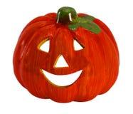 Symbol of Halloween is  Jack o lantern. Big Orange Jack-o`-lantern on white background Royalty Free Stock Photos