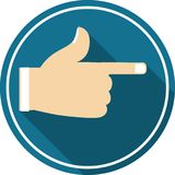 Symbol hand-right arrow. This icon ready to use for all device and platforms,can be used for several purposes like websites,print templates,illustration and many Stock Photo
