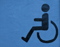 The symbol handicapped on blue Stock Images