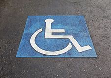 Symbol of handicapped parking space Stock Images