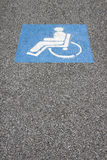 Symbol of the handicapped person Stock Photo