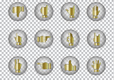 Symbol Hands vector icons, illustration Royalty Free Stock Photo