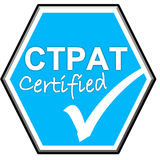 Symbol have been certified CTPAT system Royalty Free Stock Images