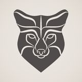 Symbol head of the old fox Stock Images