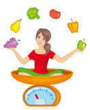 Symbol of a healthy way of life Royalty Free Stock Photo