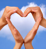 Symbol Heart 3. Female hands showing heart sign love concept royalty free stock photo