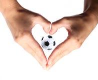 Symbol heart love soccer Royalty Free Stock Image