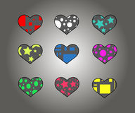 The symbol of the heart (6 pieces) Stock Photos