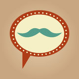 Symbol hipster mustache fashion icon Stock Image