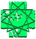 Symbol of Holy Ghost on abstract fantasy isolated Royalty Free Stock Photography