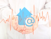 The symbol of home internet. Royalty Free Stock Image