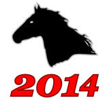 Symbol of 2014 Stock Image