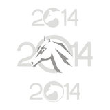 Symbol of 2014. Horse. Horse 2014 year chinese symbol vector illustration image tattoo design Stock Photos