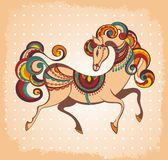Symbol of 2014. Horse. 2014 year of the decorative horse Vector Illustration