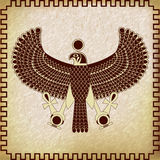 Symbol of Horus falcon Stock Image