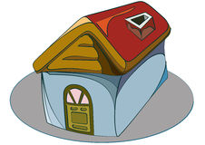 Symbol house. Home icon with 3d view and line view Royalty Free Stock Images