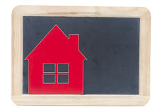 Symbol house on blackboard Stock Images