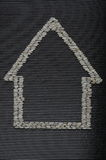 Symbol of the house made of rice Royalty Free Stock Photography