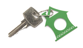 Symbol of the house with silver key Stock Images