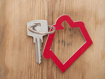 Symbol of the house with silver key Royalty Free Stock Images