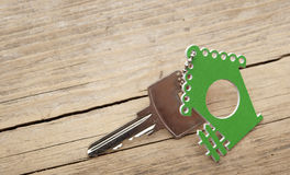 Symbol of the house with silver key Stock Photography