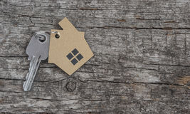 Symbol of the house with silver key Royalty Free Stock Photo