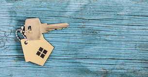 Symbol of the house with silver key Royalty Free Stock Image