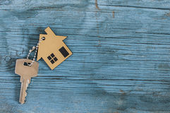 Symbol of the house with silver key Royalty Free Stock Photography