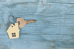 Symbol of the house with silver key Stock Image