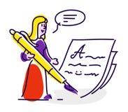 Symbol i stilen av tecknade filmen Isolerat objekt på vit backgr arkivbild