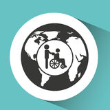 symbol icon disabled wheel chair Royalty Free Stock Photography