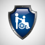 symbol icon disabled wheel chair Royalty Free Stock Photo