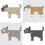 Symbol icon rectangle animal dog pitbull Stock Image