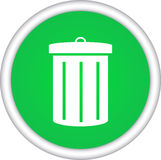Symbol, icon, trash Royalty Free Stock Photos