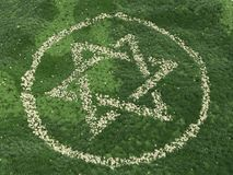 Symbol of Illuminati, secret knowledge. Emblem in the form of a six-pointed star, star David Stock Image
