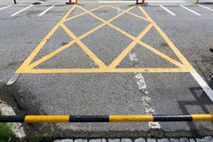 Symbol im Parkplatz Stockbild