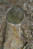Symbol im Solarplexus von Europa Stockfotos