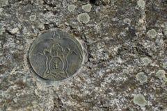 Symbol im Solarplexus von Europa Stockbild