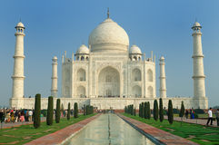 Symbol of India. White marble Taj Mahal in  India, Agra, Uttar Pradesh Royalty Free Stock Photography