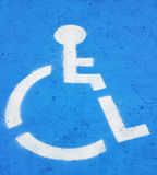 Symbol Indicating Handicapped Parking Stock Photo