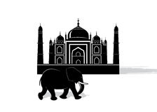 Symbol Indien stock illustrationer