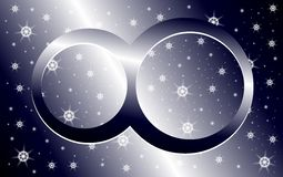 Symbol of infinity on background with stars Royalty Free Stock Photo
