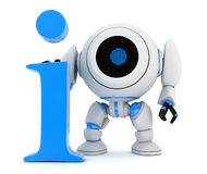 Symbol info and robot Royalty Free Stock Photos